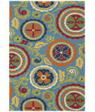 RugStudio presents Company C Fair Winds 19198 Blue Hand-Hooked Area Rug