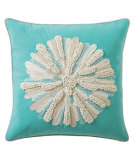 RugStudio presents Company C Asters Pillow 18934k Aqua