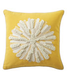 RugStudio presents Company C Asters Pillow 18934k Yellow