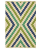 RugStudio presents Company C Chevron 80922 Capri Blue Woven Area Rug