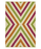 RugStudio presents Company C Chevron 80923 Fuchsia Woven Area Rug