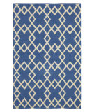 RugStudio presents Company C Crisscross 80927 Capri Blue Woven Area Rug