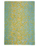 RugStudio presents Company C Leopard Aqua Hand-Tufted, Good Quality Area Rug