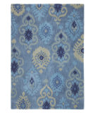 RugStudio presents Company C Luna 80942 Indigo Hand-Tufted, Good Quality Area Rug