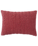 RugStudio presents Company C Braided Velvet Pillow 18980k Red