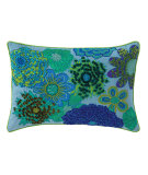 RugStudio presents Company C Pippa Pillow 19035k Capri Blue