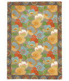 RugStudio presents Company C Poppies Driftwood Hand-Tufted, Good Quality Area Rug