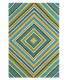RugStudio presents Rugstudio Sample Sale 80958R Aqua Hand-Hooked Area Rug