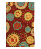 RugStudio presents Company C Sundew 18989 Red Hand-Hooked Area Rug