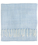 RugStudio presents Company C Staccato Throws 19254 Capri Blue Woven
