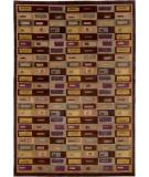 RugStudio presents Couristan Silken Treasures Gabbeh Aubergine 1850-0020 Hand-Knotted, Better Quality Area Rug