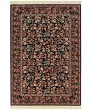 RugStudio presents Couristan Gem Louis Xiii Floral Tapestry Black 8587-1898 Machine Woven, Better Quality Area Rug