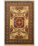 RugStudio presents Couristan Lahore All Over Vase Camel 1363/2467 Hand-Knotted, Best Quality Area Rug