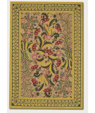 RugStudio presents Couristan Pera A/O Mashhad Crimson/Fawn Machine Woven, Good Quality Area Rug