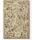 RugStudio presents Couristan Eden Summer Vines Ivory 0230-0030 Hand-Knotted, Best Quality Area Rug