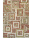 RugStudio presents Couristan Graphite Contrasting Sq Ivory/Rose Area Rug