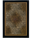 RugStudio presents Couristan Everest Leopard Ivory/Black Machine Woven, Good Quality Area Rug