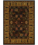 RugStudio presents Couristan Royal Kashimar Cypress Garden Black/Deep Maple Machine Woven, Best Quality Area Rug