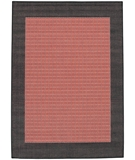 RugStudio presents Couristan Recife Checkered Field 1005-4000 Terra-Cotta-Black Machine Woven, Good Quality Area Rug