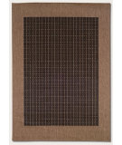 RugStudio presents Couristan Recife Checkered Field Black/Cocoa Machine Woven, Good Quality Area Rug