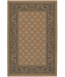 RugStudio presents Couristan Recife Garden Lattice 1016-2000 Black-Cocoa Machine Woven, Good Quality Area Rug