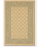 RugStudio presents Couristan Recife Garden Lattice 1016-5016 Green-Natural Machine Woven, Good Quality Area Rug