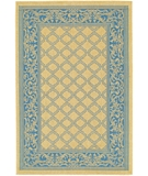 RugStudio presents Couristan Recife Garden Lattice 1016-5500 Blue-Natural Machine Woven, Good Quality Area Rug