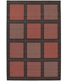 RugStudio presents Couristan Recife Summit 1043-4000 Terra-Cotta-Black Machine Woven, Good Quality Area Rug