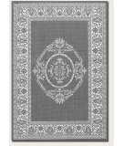 RugStudio presents Couristan Recife Antique Medallion Grey/White Machine Woven, Good Quality Area Rug