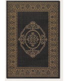 RugStudio presents Couristan Recife Antq Medallion Black/Cocoa Machine Woven, Good Quality Area Rug
