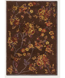 RugStudio presents Couristan Pave Belle Rose Mahogany/Garnet Machine Woven, Good Quality Area Rug