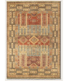 RugStudio presents Couristan Lahore Persian Panel Multi Hand-Knotted, Good Quality Area Rug