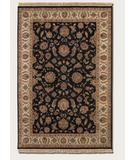 RugStudio presents Couristan Jangail Khorasan Blossom 1301 Black Beige 0101 Hand-Knotted, Best Quality Area Rug