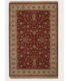 RugStudio presents Couristan Jangali Kerman Vase 1302 Red Ivory 0102 Hand-Knotted, Best Quality Area Rug