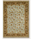 RugStudio presents Couristan Jangali Masala Sky Blue/Chocolate Hand-Knotted, Best Quality Area Rug