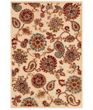 RugStudio presents Couristan Cire Marlow Antique Cream/Ruby Machine Woven, Good Quality Area Rug