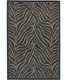 RugStudio presents Couristan Recife Zebra Black/Cocoa Machine Woven, Good Quality Area Rug