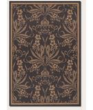 RugStudio presents Couristan Recife Garden Cottage Black 1516-0111 Machine Woven, Good Quality Area Rug