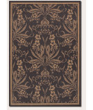 RugStudio presents Couristan Recife Garden Cottage Black/Cocoa Machine Woven, Good Quality Area Rug
