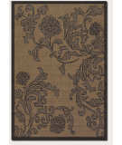 RugStudio presents Couristan Recife Rose Lattice Cocoa/Black Machine Woven, Good Quality Area Rug