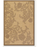 RugStudio presents Couristan Recife Rose Lattice Natural/Cocoa Machine Woven, Good Quality Area Rug