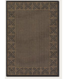 RugStudio presents Couristan Recife Summer Chimes Cocoa/Black Machine Woven, Good Quality Area Rug