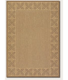 RugStudio presents Couristan Recife Summer Chimes Natural/Cocoa Machine Woven, Good Quality Area Rug