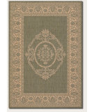 RugStudio presents Couristan Recife Antq Medallion Green/Natural Machine Woven, Good Quality Area Rug