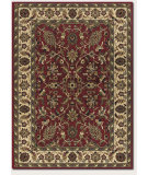 RugStudio presents Couristan Anatolia Floral Ispaghan Red/Cream Machine Woven, Good Quality Area Rug