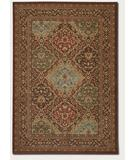 RugStudio presents Couristan Pera Hereke 2071 Multi-Chocolate 0641 Machine Woven, Good Quality Area Rug