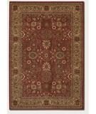 RugStudio presents Couristan Pera All Over Mashhad 2072 Crimson-Fawn 0005 Machine Woven, Good Quality Area Rug