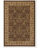RugStudio presents Couristan Pera Birjand 2077 Chocolate-Latte 0156 Machine Woven, Good Quality Area Rug