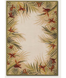 RugStudio presents Couristan Covington Tropic Gardens Sand/Multi Hand-Hooked Area Rug