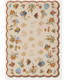 RugStudio presents Couristan Outdoor Escape Coral Dive Sand Hand-Hooked Area Rug
